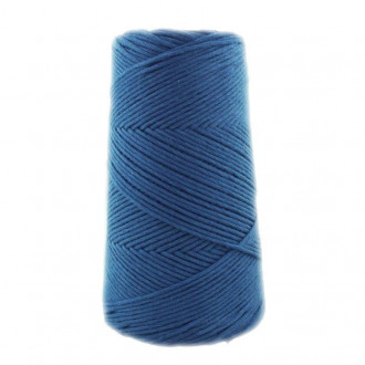 Algodón peinado XL azul jean