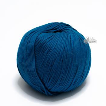 Algodón Pima - Azul Caribe