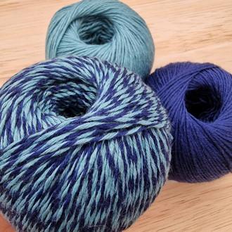 Merino super wash TWIST - Azul